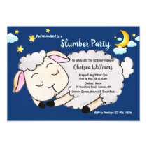 Sleeping Sheep Slumber Party Invitation