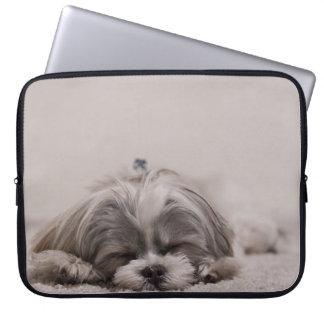 Sleeping Shih tzu Laptop Sleeve, Sleeping Dog Laptop Sleeve