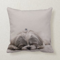 Sleeping Shih tzu Pillow, Sleeping Dog Throw Pillow