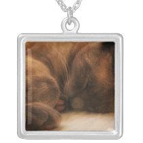Sleeping Siamese Necklace