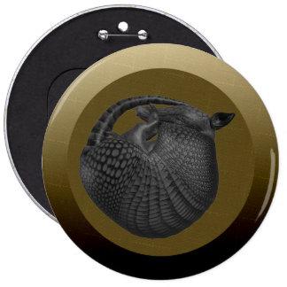 Sleeping Silver Armadillo Button