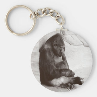 Sleeping Silverback Keychain