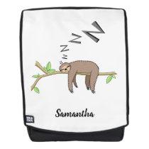 Sleeping sloth backpack