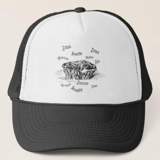 Sleeping Snoring Pekingese Doggie Trucker Hat