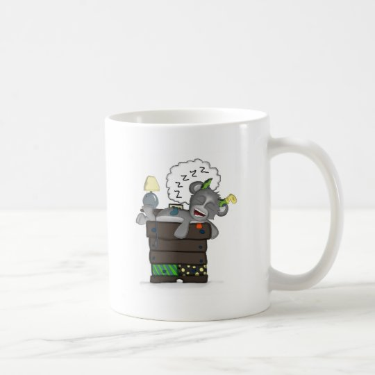 Sleeping Sock Drawer Monster Digital Art Coffee Mug