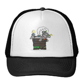 Sleeping Sock Drawer Monster Digital Art Trucker Hat