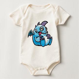 Sleeping space monsters baby bodysuit