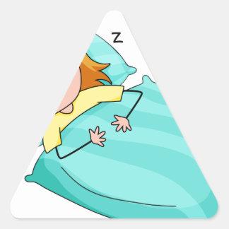 Sleeping Triangle Sticker