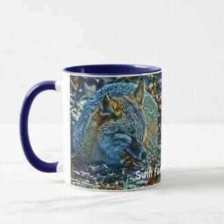 Sleeping Swift Fox Wildlife Art Coffee Mug