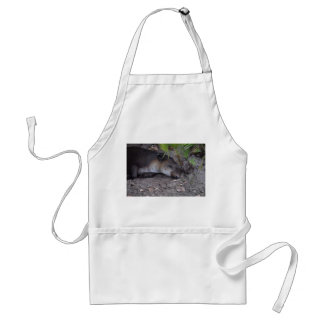 sleeping tapir under palmetto close up apron