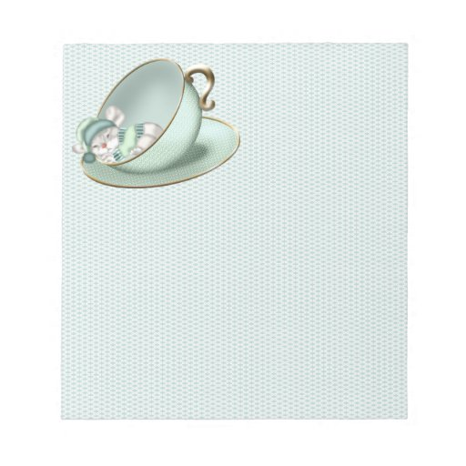 Sleeping Tea Cup Mouse Scratch Pad