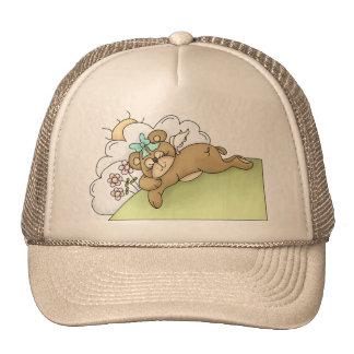 Sleeping Teddy Bear Trucker Hat