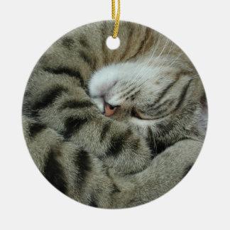Sleeping Tiger-Cat Christmas Ornaments