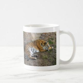 Sleeping Tiger Classic White Coffee Mug