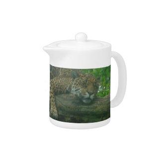 Sleeping Tiger on Tree, Forest, Nature, Wildlife Teapot