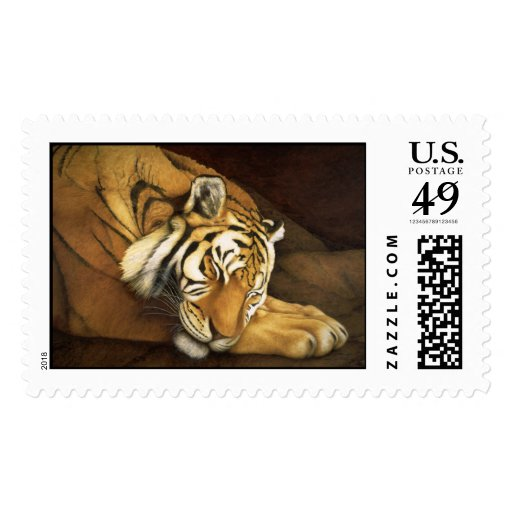 sleeping tiger postage stamps