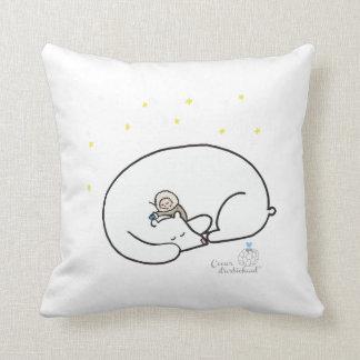 Sleeping tight throw pillow