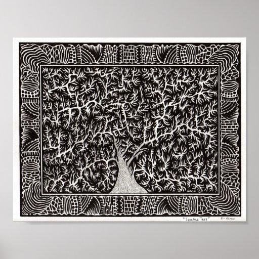 Sleeping Tree Poster