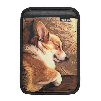 Sleeping Tricolor Welsh Corgi iPad Mini Sleeves