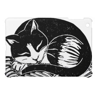 Sleeping Tuxedo Cat iPad Case