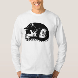 Sleeping Tuxedo Cat Men's Long Sleeve T-Shirt