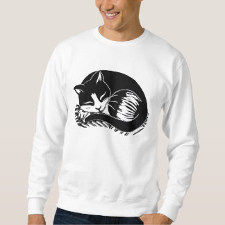 Sleeping Tuxedo Cat Men's Sweatshirt