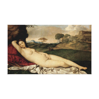 Sleeping Venus (by Giorgione) Canvas Print