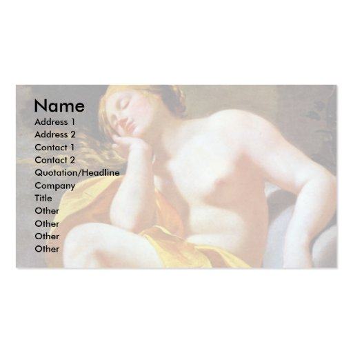 Sleeping Venus On Clouds By Vouet Simon Business Card Templates