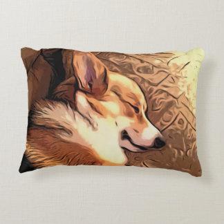 Sleeping Welsh Corgi Accent Pillow