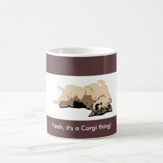 Sleeping Welsh Corgi Coffee Mug