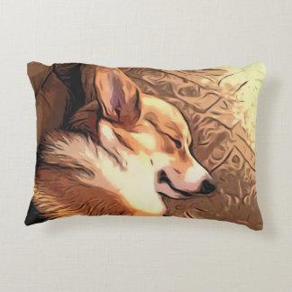 Sleeping Welsh Corgi Decorative Pillow