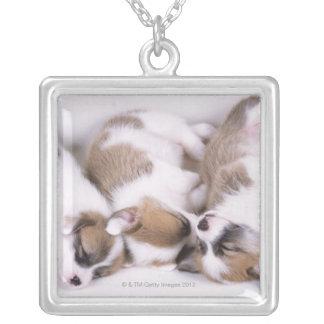 Sleeping welsh corgi puppies pendant