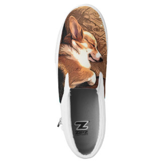 Sleeping Welsh Corgi Slip-On Sneakers