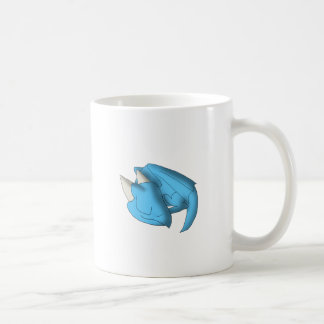 Sleeping Whelp Baby Dragon Fantasy Cartoon Art Coffee Mug