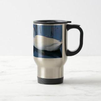 Sleeping White Duck Reflection Travel Mug