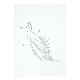 Sleeping White Peacock Card