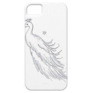 Sleeping White Peacock iPhone SE/5/5s Case