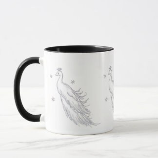 Sleeping White Peacock Mug