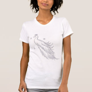 Sleeping White Peacock T-Shirt