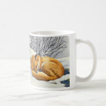 Sleeping Winter Fox Mug