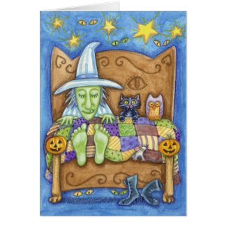 Sleeping Witch Card
