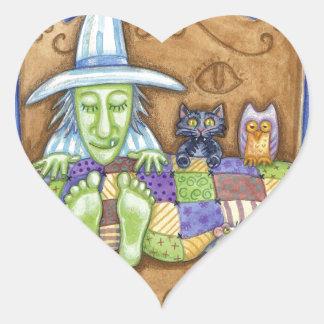 Sleeping Witch Heart Sticker