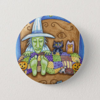 Sleeping Witch Pinback Button