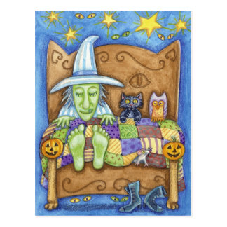 Sleeping Witch Postcard
