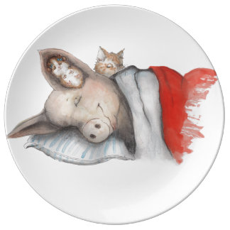 Sleeping with Friends Dinner Plate