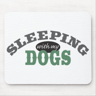 SLEEPING with my DOGS Mouse Pad