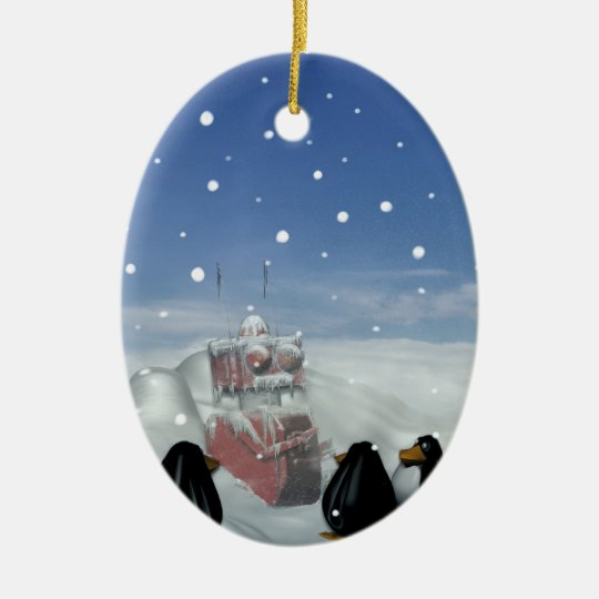 Sleeping with the Penguins Ornament