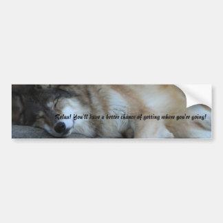 Sleeping Wolf Bumper Sticker Car Bumper Sticker