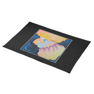Sleeping Woman. Cloth Placemat