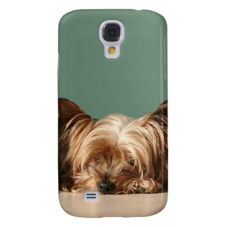 Sleeping Yorkie dog Galaxy S4 Case